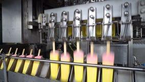 Линии транспортера автоматические для продукции мороженого акции видеоматериалы