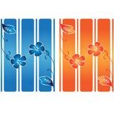 линии цветка знамени сверх Стоковое Фото