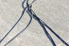 Линии электропередач на всем пути Стоковые Фото