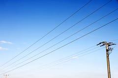 Линии электропередач Стоковое Изображение