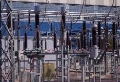 линии энергии высокие Стоковые Фотографии RF