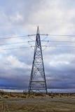 Линии электропередач высокой напряженности Стоковые Изображения RF