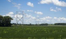 Линии электропередач родины - Jasper County, Айова Стоковые Фотографии RF