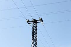 Линии электропередач Стоковое Изображение RF