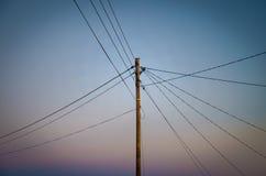 Линии электропередач Стоковые Фотографии RF