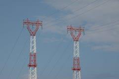 Линии электропередач Стоковые Изображения RF