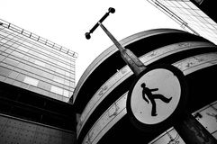 Линии Croosed современных зданий Стоковое Изображение RF