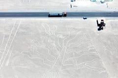 Линии Nazca от воздушных судн Стоковое Изображение RF