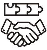 линию изолированный значок партнера бизнесмена вектора можно легко доработать и редактировать бесплатная иллюстрация