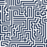 Линия лабиринт абстрактной безшовной предпосылки вектора современная декоративно Стоковое Изображение