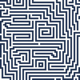 Линия лабиринт абстрактной безшовной предпосылки вектора современная декоративно Стоковые Фото