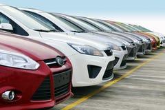 Линия автомобилей стоковое изображение rf