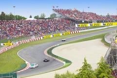 линия автомобиля 9 barcelona может время o участвуя в гонке Стоковые Фотографии RF
