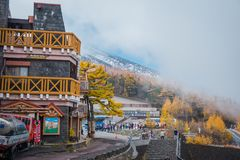 Линия 5-ая станция Фудзи Subaru на Mount Fuji, Японии стоковые фотографии rf