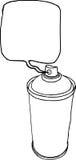Линия баллончика нарисованная рукой жидкостная на белой предпосылке Стоковые Фото