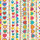 Линия безшовная картина притяжки руки влюбленности вертикальная иллюстрация вектора