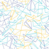 Линия безшовная картина с формами бумаги origami Стоковые Фотографии RF