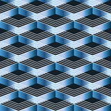 Линия безшовная картина Шеврона голубая Стоковая Фотография RF