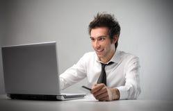 линия бизнесмена покупая Стоковое фото RF