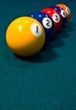 линия биллиарда шариков Стоковое Изображение RF