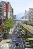 Линия Брайна метро Тайбэй Стоковое Изображение