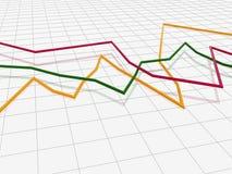 линия вал диаграммы Стоковое Изображение RF