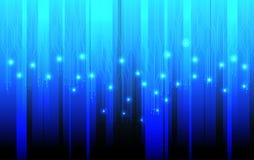 Линия вектор абстрактной технологии голубая предпосылки силы светлой энергии цепи футуристический Стоковое Изображение