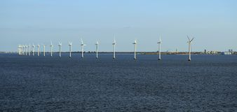 Линия ветротурбин Копенгагена Тома Wurl Стоковые Изображения RF
