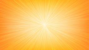 Линия взрыв Рэй скорости белого света на оранжевую предпосылку Стоковые Изображения