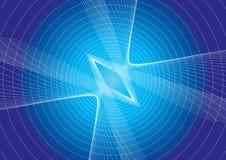 линия влияния предпосылки голубая иллюстрация вектора
