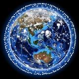 Линия вокруг земли Стоковые Изображения RF