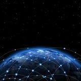 Линия вокруг земли Стоковая Фотография
