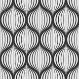 Линия волнистая картина в ультрамодном стиле Monochrome безшовная billowy предпосылка иллюстрация вектора