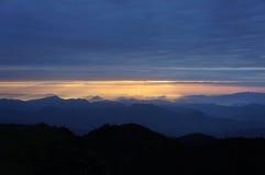 Линия восход солнца Chuanzang южная горы niubei Стоковое Фото