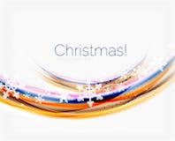 Линия волны с снежинками абстрактное рождество предпосылки бесплатная иллюстрация