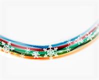 Линия волны с снежинками абстрактное рождество предпосылки иллюстрация вектора