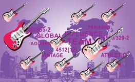 линия гитары Стоковое Изображение