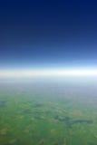 линия горизонта зарева Стоковая Фотография RF