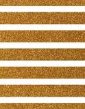Линия горизонтального широкого золота glittery Стоковое Фото