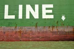 Линия гужа грузового корабля Стоковое фото RF
