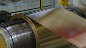 Линия для подвергать механической обработке крена металлического листа акции видеоматериалы