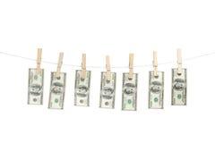 Линия денег Стоковые Фото