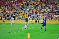 Линия дефенсивы футбольной команды Китая стоковые фотографии rf