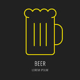Линия еда или питье логотипа Стоковые Изображения