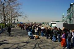 линия ждать вольности острова отключения Стоковая Фотография RF
