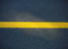 линия желтый цвет дороги Стоковые Фотографии RF