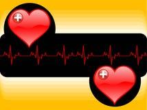 линия жизни сердца Стоковое Изображение