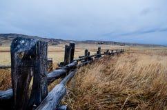 Линия загородки Вайоминга деревянная Стоковые Изображения RF
