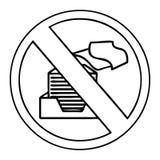 линия знак запрета бумаги мультфильма чертежа бесплатная иллюстрация