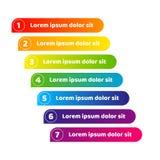 Линия знамени нашивка красочного элемента дизайна кнопки номера градиента для визитной карточки знамени рекламы infographics ярко иллюстрация вектора